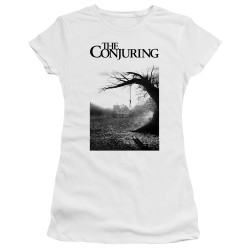 Image for The Conjuring Juniors Premium Bella T-Shirt - Monotone Poster