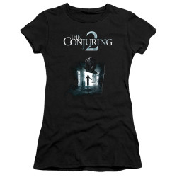 Image for The Conjuring Juniors Premium Bella T-Shirt - Conjuring 2 Poster