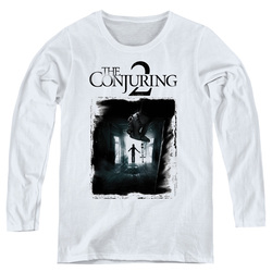 Image for The Conjuring Women's Long Sleeve T-Shirt - Conjuring 2 Montone Poster