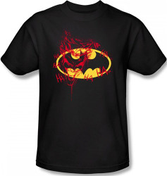 Image Closeup for Batman T-Shirt - Joker Graffiti Logo