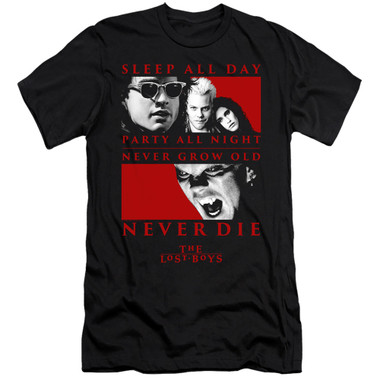 Image for The Lost Boys Premium Canvas Premium Shirt - Never Die