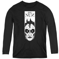 Image for The Nun Women's Long Sleeve T-Shirt - Gaze