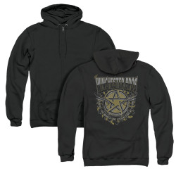 Image for Supernatural Zip Up Back Print Hoodie - Winchester Bros