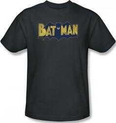 Image Closeup for Batman T-Shirt - Vintage Batman Logo Splatter