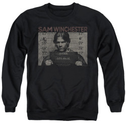 Image for Supernatural Crewneck - Sam Mug Shot