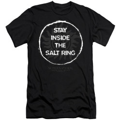 Image for Supernatural Premium Canvas Premium Shirt - Stay Inside the Salt Ring