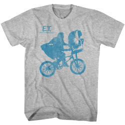 Image for ET the Extraterrestrial T-Shirt - Bike Silhouette