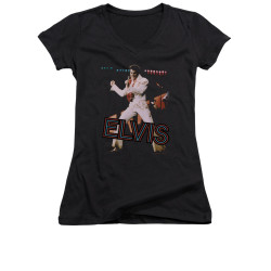 Image for Elvis Girls V Neck T-Shirt - Hit the Lights