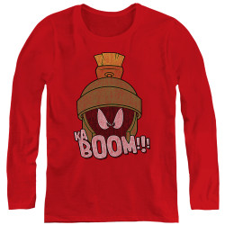 Image for Looney Tunes Women's Long Sleeve T-Shirt - Marvin the Martain Ka-Boom