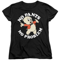 Image for Looney Tunes Woman's T-Shirt - Porky Pig No Pants No Problem