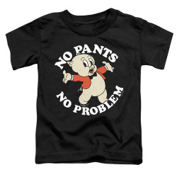 Image for Looney Tunes Toddler T-Shirt - Porky Pig No Pants No Problem