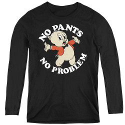 Image for Looney Tunes Women's Long Sleeve T-Shirt - Porky Pig No Pants No Problem