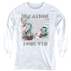 Image for Looney Tunes Youth Long Sleeve T-Shirt - Vacation Forever