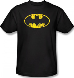 Image Closeup for Batman T-Shirt - Classic Logo Distressed
