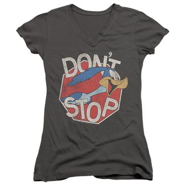 Image for Looney Tunes Girls V Neck T-Shirt - Roadrunner Don't Stop