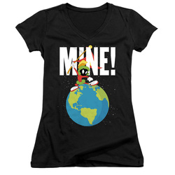 Image for Looney Tunes Girls V Neck T-Shirt - Marvin the Martian Mine