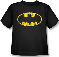 Image for Batman Classic Logo Distressed Toddler T-Shirt