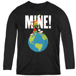 Image for Looney Tunes Women's Long Sleeve T-Shirt - Marvin the Martian Mine