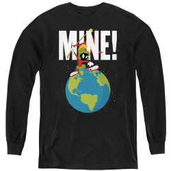 Image for Looney Tunes Youth Long Sleeve T-Shirt - Marvin the Martian Mine