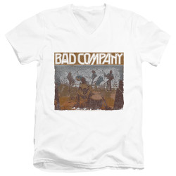 Image for Bad Company V-Neck T-Shirt Winged Swan Song