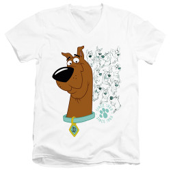 Image for Scooby Doo T-Shirt - V Neck - Evolution of Scooby Doo