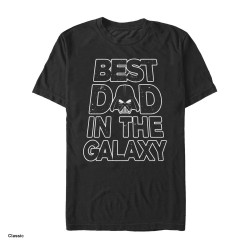 Image for Star Wars Galaxy Dad Text T-Shirt