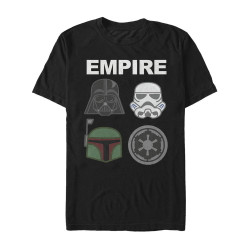Image for Star Wars Empire Emoji T-Shirt