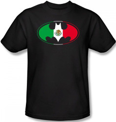 Image Closeup for Batman T-Shirt - Mexican Flag Logo
