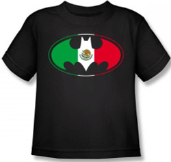 Image for Batman Mexican Flag Logo Toddler T-Shirt