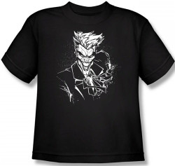 Image for Joker Youth T-Shirt - Splatter Smile