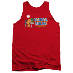 Image for Garfield Tank Top - School Rules