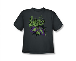 Image for Batman Youth T-Shirt - Joker Smell My Flower