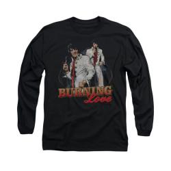 Image for Elvis Long Sleeve T-Shirt - Burnin Love