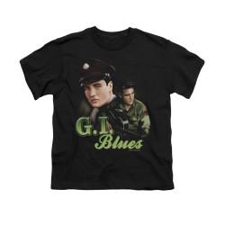 Image for Elvis Youth T-Shirt - Retro G.I. Blues