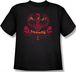 Image for Batman Youth T-Shirt - Heart of Fire Logo