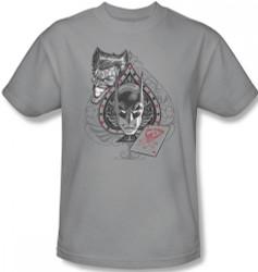 Image Closeup for Batman T-Shirt - Joker Batman's Ace