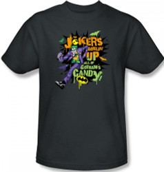Joker T-Shirt - Halloween Goblin Up all the Candy Image 2