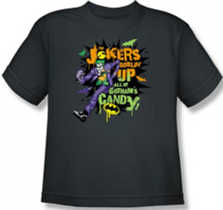 Image for Joker Halloween Goblin Up all the Candy Toddler T-Shirt