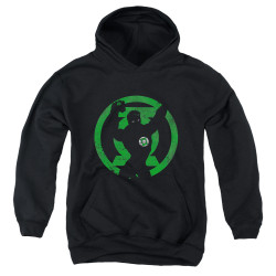 Image for Green Lantern Youth Hoodie - GL Symbol Knockout