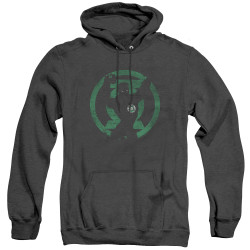 Image for Green Lantern Heather Hoodie - GL Symbol Knockout