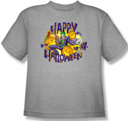 Image for Joker Youth T-Shirt - Ha Ha Halloween
