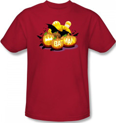 Image Closeup for Batman T-Shirt - Halloween Bat O' Lanterns