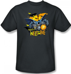 Image Closeup for Batman T-Shirt - Halloween Bats Welcomes