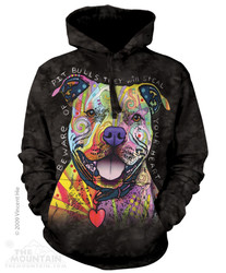 Image for The Mountain Hoodie - Beware of Pit Bulls