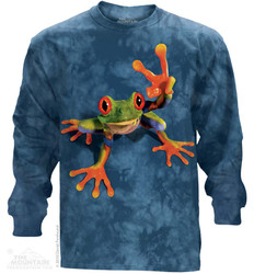 Image for The Mountain Long Sleeve T-Shirt - Victory Frog