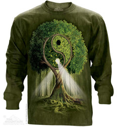 Image for The Mountain Long Sleeve T-Shirt - Yin Yang Tree