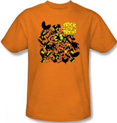 Image for Batman T-Shirt - Halloween Trick or Treat Collage