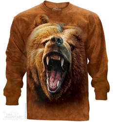 Image for The Mountain Long Sleeve T-Shirt - Grizzly Growl