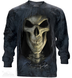 Image for The Mountain Long Sleeve T-Shirt - Big Face Death