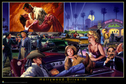 Image for Classic Hollywood Drive In Poster